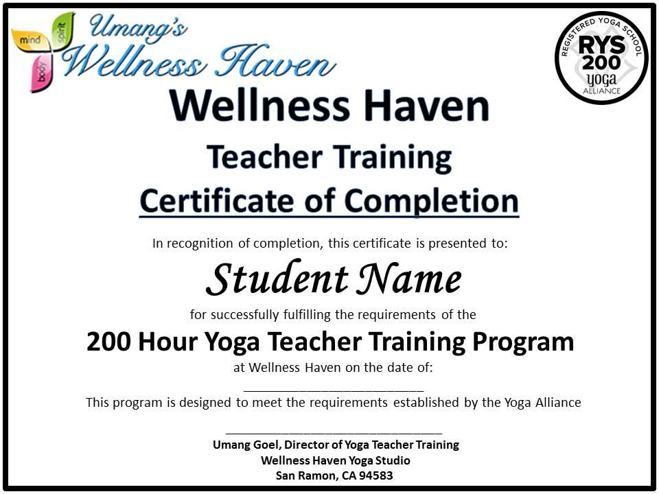 yoga teacher training program - wellness haven yoga