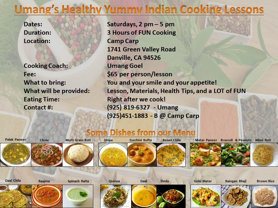 Healthy Yummy indian Cooking Lessons
