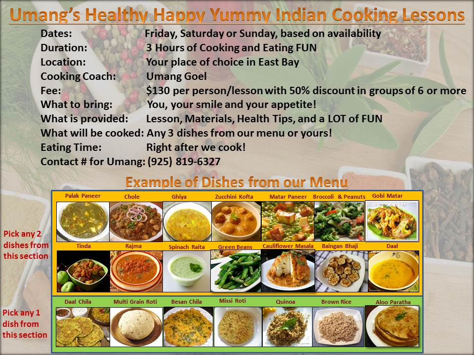 Umang Healthy Happy Yummy Indian Cooking Lessons 12_30_2013