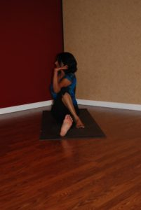 Ardha Matsyendrasana or Half Lord of the Fishes Pose